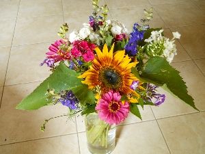organic bouquet for pick your own for CSA members